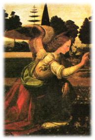 Tabla realizada por Leonardo da Vinci, 1472