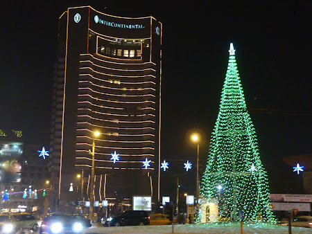 Rondul de la Universitate si Hotel Intercontinental Bucuresti