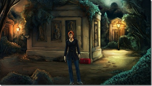 Cemetery Tomb Back - Screenshot from Cognition: An Erica Reed Thriller