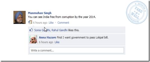 Facebook Fake status