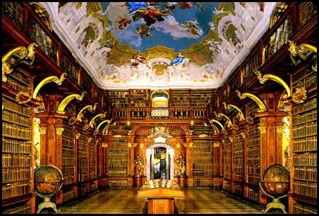 Bibliothèque du monastère de Melk, Melk, Autriche -1