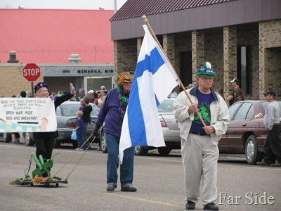 St Urhos Day Parade Flag bearer