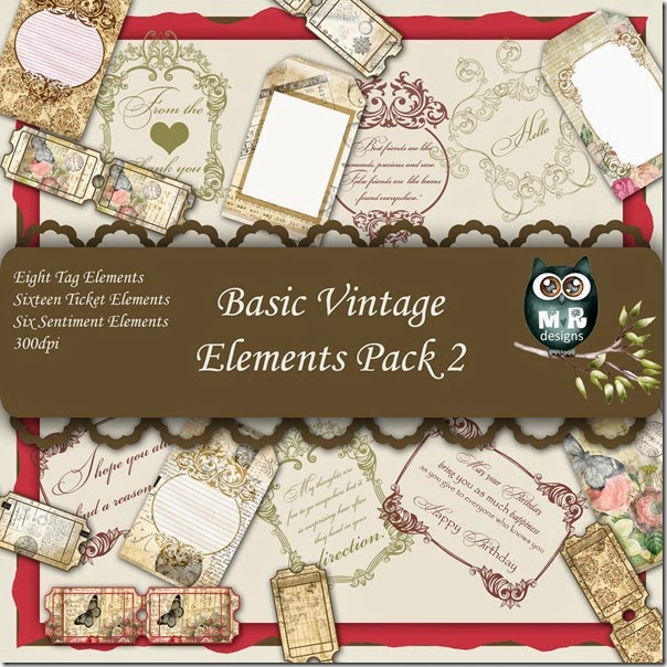 Basic Vintage Elements Front Sheet Pack 2