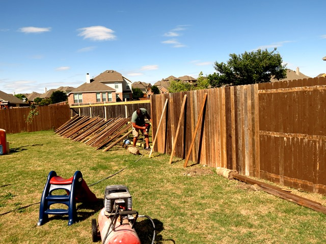 How to Build a New Fence Using Old Scraps www.stylewithcents.blogspot.com. 9