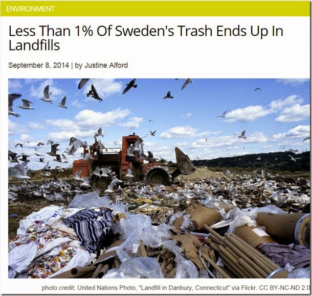 Sweden 1% landfill