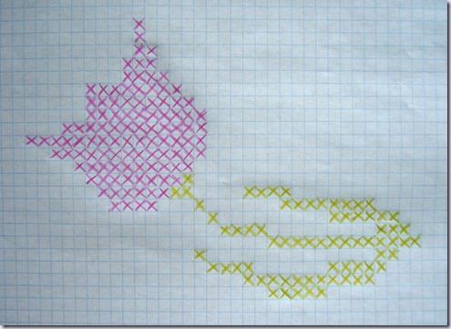 borduurpatroon-roze-tulp