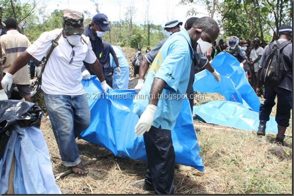 All 28 bodies were recovered just after 1pm on Friday 14th October 2011. by Scott Waide
