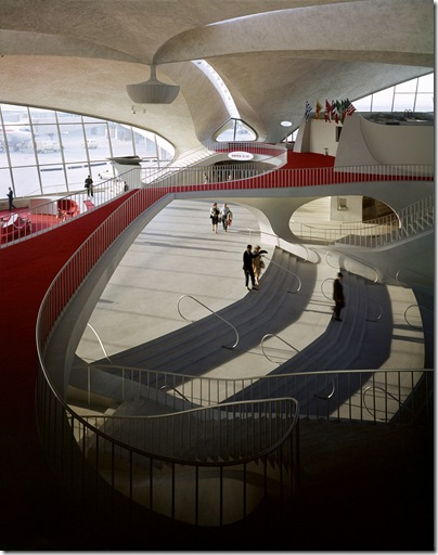 Ezra Stoller_ TWA Terminal, John F. Kennedy International Airport- Eero Saarinen, New York, 1962.