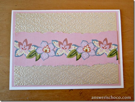 Rose and Gold Embossed Card