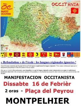 Manifestacion a Montpelhièr