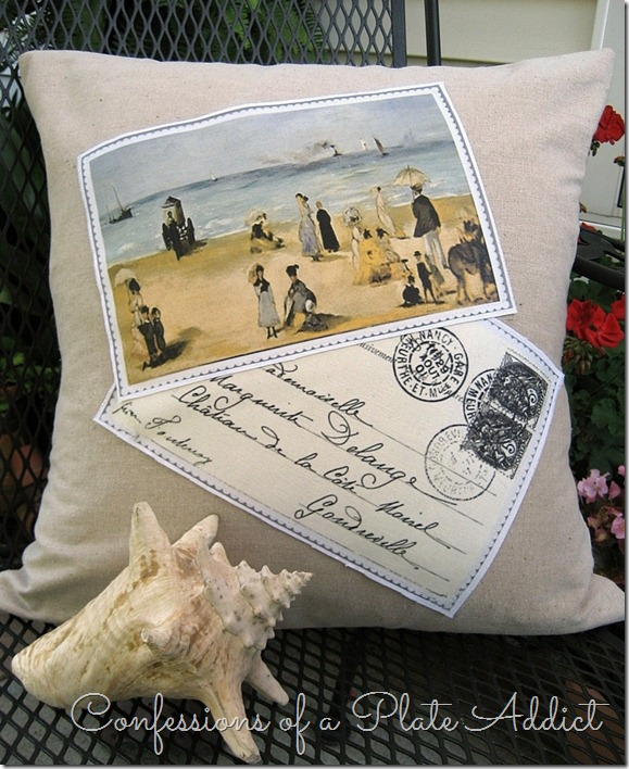 CONFESSIONS OF A PLATE ADDICT Pottery Barn Inspired Frenchy Beach Pillow