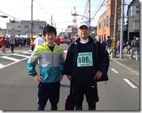 西大寺マラソン2013 松本専務と