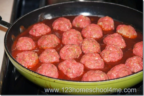 cook meatballs in sauce