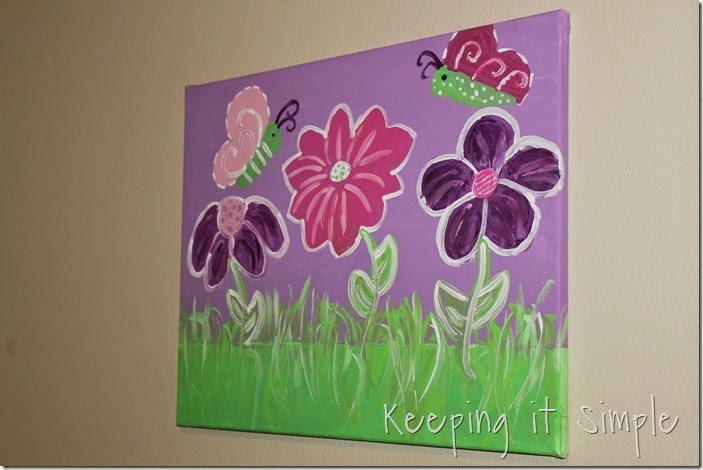 butterfly and flower painted canvas #DecoArt (8)