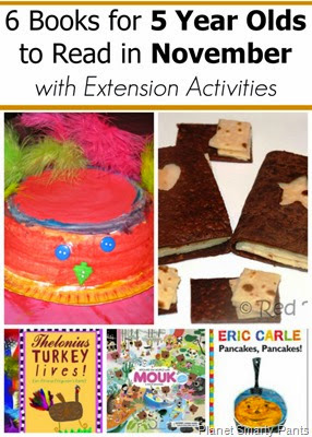 November Book Picks for 5 Year Old with Extension Activities