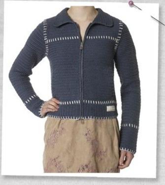 # Crochet jacket indigo
