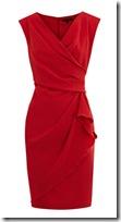 Coast Crepe Wrap Front Dress