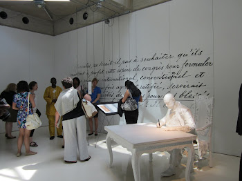 'Exploring an exhibition at the Museum of the International Red Cross and Red Crescent' Photo by Vivian Yela