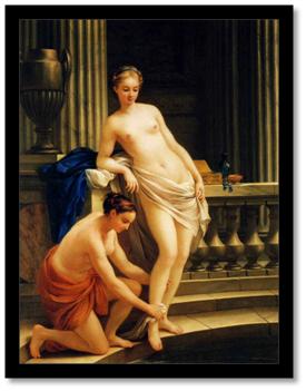 La mujer griega en el baño. Joseph Marie Vien