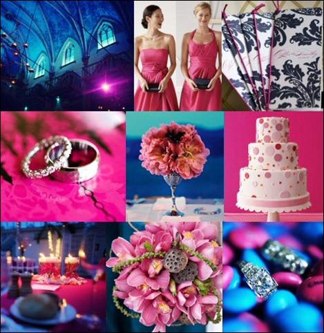 azul e rosa
