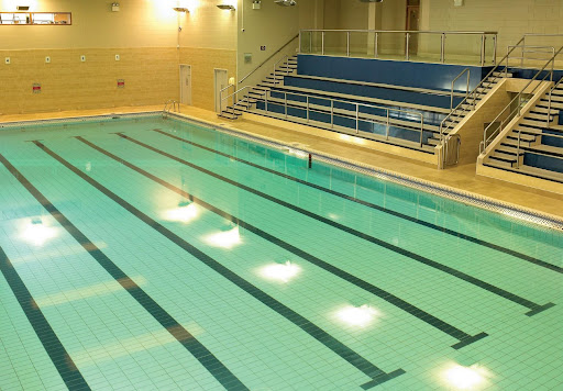 Pool and spectator seating