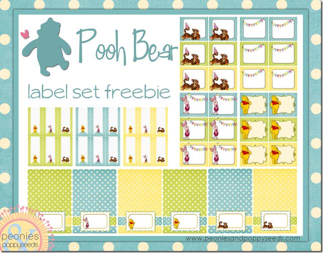 winnie the pooh label set copy