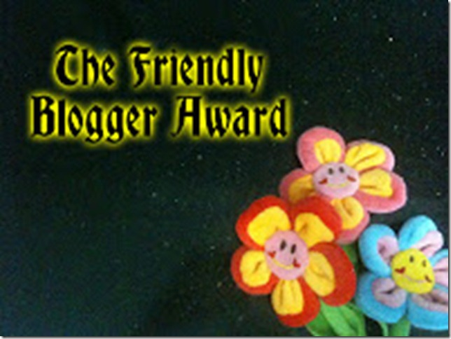 The Friendly Blogger Award from Cotton
