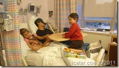 Kids Playing on the Hospital Food Tray