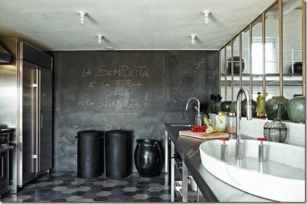 cucine e pareti vetrate - case e interni - Vetrata Soggiorno Cucina