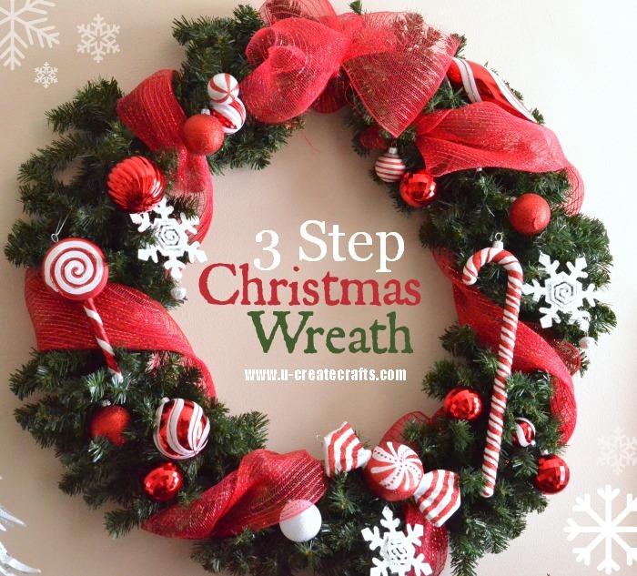 3 Step Christmas Wreath