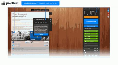 PixelHub - crear páginas biográficas