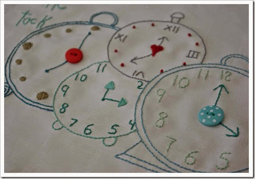 clock embroidery