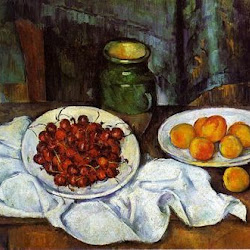 Paul Cezanne (1883-1887): Cherries and Peaches. Los Angeles County Museum of Art. Los Angeles. California. Postimpresionismo
