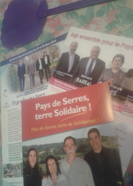 Propaganda electorala dins un recanton d'Occitània novèla
