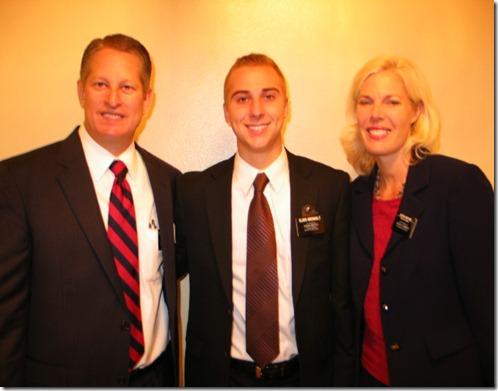 Elder Breinholt with President & Sister McCune