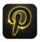 GraphicsVibe neon glow pinterest icon