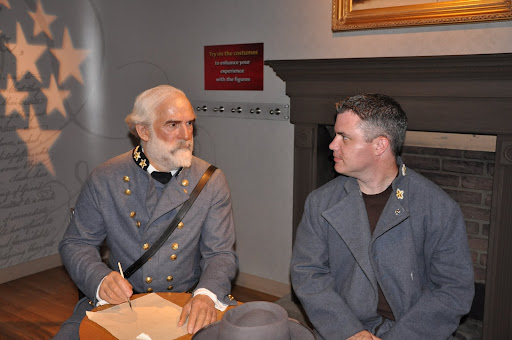 Chris and General Lee have a discussion.