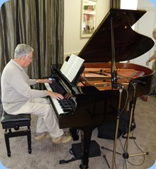 Jim Nicholson playing the Yamaha Grand Piano