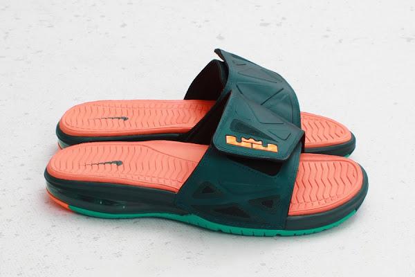 Nike Air LeBron 2 Slide Elite 8211 Dark Atomic TealTotal Orange