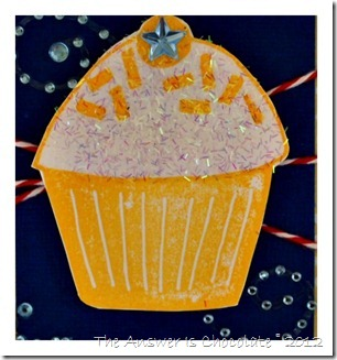 Stamped Frosted Cupcake