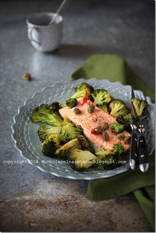 łosoś pieczony z brokułami (3)