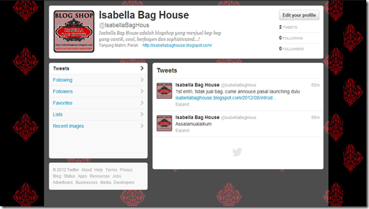 twitter isabella bag house