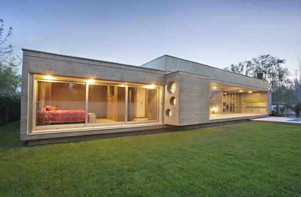 Casa moderna fioretti por a4 estudio arquitexs for Casa moderna hormigon