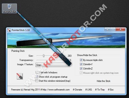 PointerStick untuk Menggantikan Kursor Mouse dengan Stick Presentasi