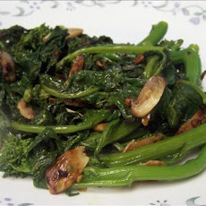 Rapini With Garlic & Chili Flakes
