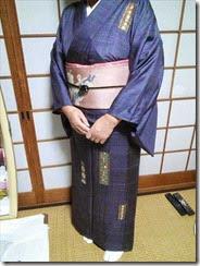 素敵な大島紬に袋帯 (6)