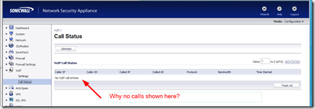 why don't lync calls show in call status