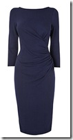 Phase-Eight Ruched Navy Dress