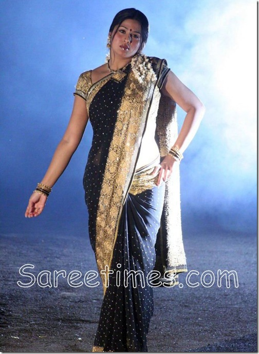 Sangeetha_Black_Saree