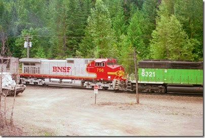 259160270 BNSF C44-9W #756 at Berne, Washington in 2002